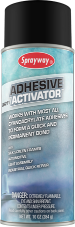 Works with most all cyanoacrylate adhesives to form a quick and permanent b