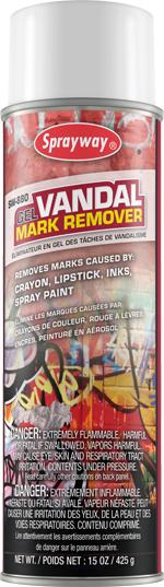 Gel Vandal Mark Remover Sprayway Inc Pioneers In
